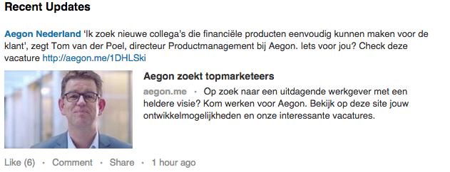 Aegon Linkedin